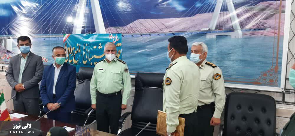 فرمانده جدید نیروی انتظامی لالی معارفه شد