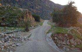 محور حادثه خیز و پرتردد شهرستان لالی به اندیکا در انتظار ایمن سازی