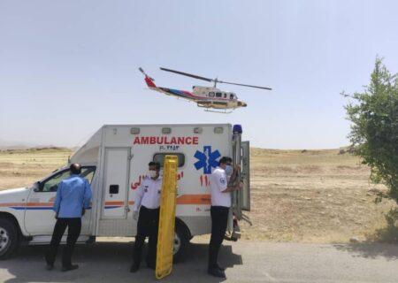اعزام یک بیمار از لالی با اورژانس هوایی به اهواز