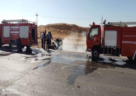 هفت کشته و مصدوم در سانحه تلخ برخورد دو خودرو در جاده مسجدسلیمان به اهواز