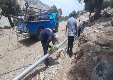 آغاز عملیات آبرسانی به مناطق روستایی و عشایری دهستان حتی شهرستان لالی آغاز شد