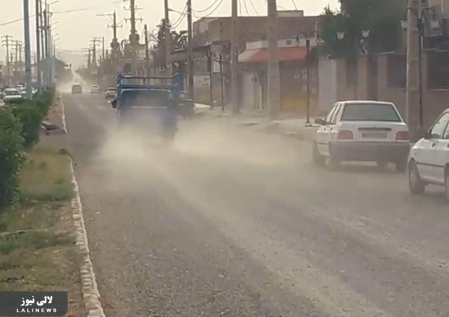 شهرداری لالی در خواب قبل از انتخابات/خیابان هایی که ترمیم نشده خراب تر شدند