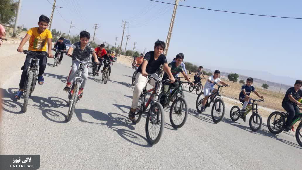 برگزاری همایش دوچرخه سواری در شهرستان لالی با حضور بیش از ۴۰ شرکت کننده