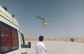 اورژانس هوایی و نجات جان دو بیمار در مناطق سخت گذر لالی