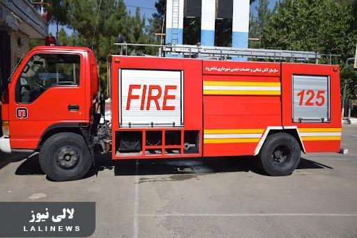 آتش سوزی در شهر و آتش نشانی بدون ماشین/حکایت آشنای مشکلات شهرداری لالی