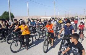 برگزاری همایش بزرگ دوچرخه سواری در لالی با حضور بیش از صد شرکت کننده+عکس
